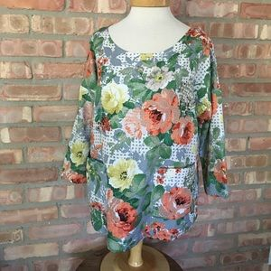Anthropologie HD blouse size L